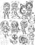 EMPOWERED vol.6's cast, 'chibi de Pins' style by AdamWarren