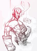 hellboy sketch by CRISTIAN-SANTOS