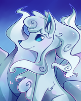 Icy New Ninetales by Nyankyuu