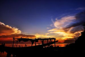 sunset at tidung island by ocimblackbluered