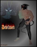 Devilman and Selene by Energade