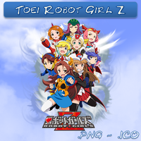 Robot Girl Z ICO, PNG And Folder by bryan1213