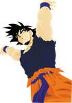 Goku first vector by Mahou11
