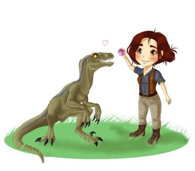 My Jurassic Wordl by BlueAquarelle