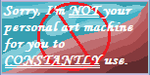 Not Your Art Machine Stamp by KHC1000