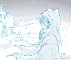 Ahsoka in the Snow Clone Wars by ElTheGeneral