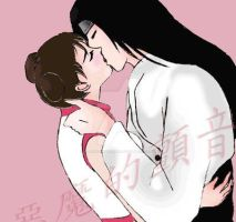 neji and tenten  kiss by allegrodevilstrill
