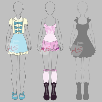 PRICE CUT! Female Outfits Adoptables [open] $.50 by applestruddles