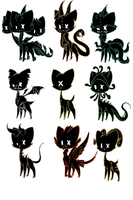 shadow cat Adoptables CLOSED by Karry-Bird