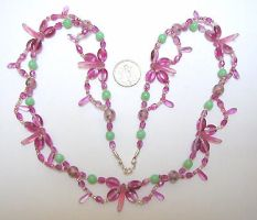 Rose winged festoon necklace by wombat1138