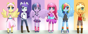 Mane Six by Naruto-Cupcakes
