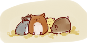 hamsters by DrunkOnTea
