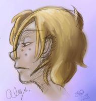 Alys in profile - Colors Only by CaliforniaClipper