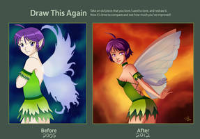 Draw This Again Challenge Entry - Fairy by Otakatt