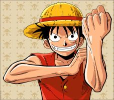 Luffy - One Piece by bdgiga