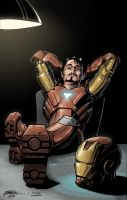 Tony Stark - Colors by GabrielJardim