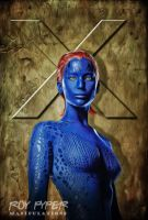 X-Men: Mystique: Anisotropic Paint Edit by nerdboy69