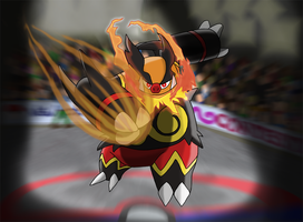 Favourite Fighting-type Pokemon: Emboar by Kumata