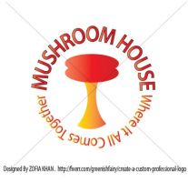 MUSHROOM HOUSE LOGO by Greeniiishfairy