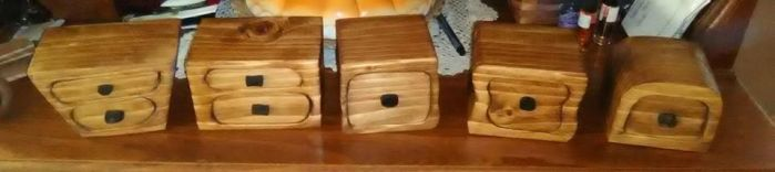 A Few Bandsaw Boxes by Des804
