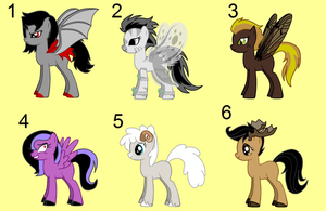 OPEN: Free MLP Adopts [Set #3] Animals and Insects by FrozenStrike