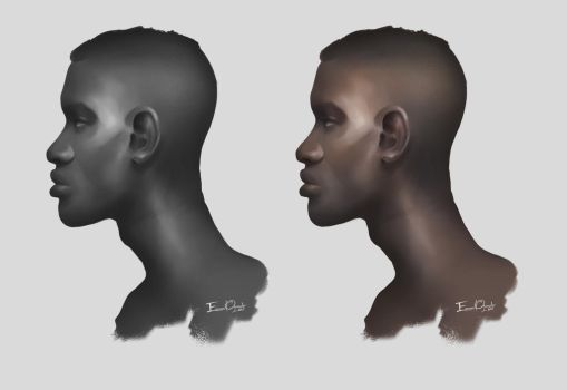 Side Male Portrait Study by Emmanuel-Oquendo