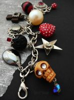Chunky rockabilly bracelet by janedean