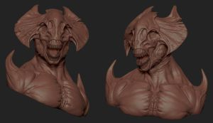 Demon Sculpt by Mavros-Thanatos