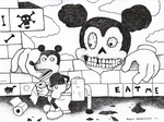 mickey mouse by rubbe