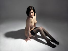 alone with my stockings by MarcBergmann
