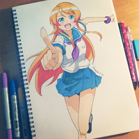 Oreimo Fanart by MikachuX3