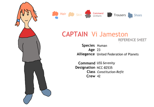 Ref Sheet: Captain Vi Jameston by MarkKB