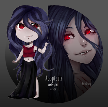 [CLOSED] Adoptable Vampire Girl by Citrie-Adopts