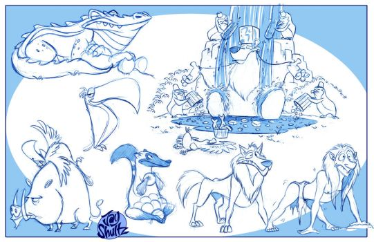 Animal Roughs 2 by Jays-Doodles