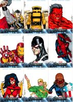 Avengers sketchcards set 2 by SpiderGuile