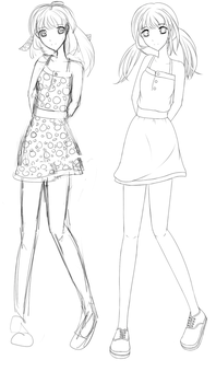 From Sketch to Lineart by lilblackbunny