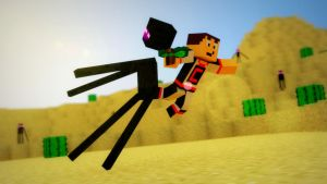 33eme wallpaper enderman2 (Daiklan81) by Hyrp