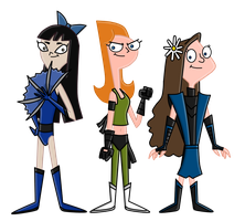 -comm- Mortal Kombat PnF Girls by LightningRod728