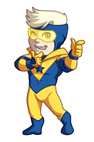 Chibi Booster Gold by TwinEnigma