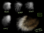 Fur Brush Pack by CoyoteMange