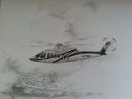 PHI S-76 Helicopter Art Study by hover-art