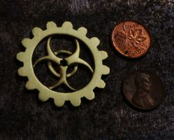 Biohazard necklace by ChardwolfArmory