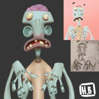 Steven the zombie 3D by Hugovrb
