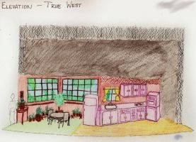 Set design for Shepard's True West by surrexi
