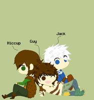 Hiccup, Guy and Jack by Ca14