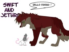 Swiftkill and Jethro by SophieReicher