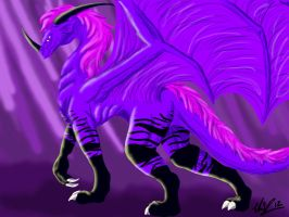 Purple dragon by Anonymous-Mystique