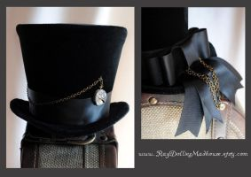 Velvet Clockwork Top Hat by RagDolliesMadhouse