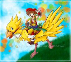 Hitchin' a Chocobo Ride by Lyrin-83