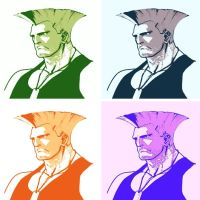 Street Fighter pop art Guile 2 by DevintheCool